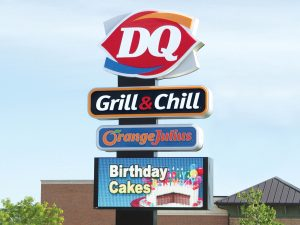 Chicago Lighted Signs 0092 Dairy Queen Bendsen Sign Graphics W 19mm 80x176 Bloomington IL 101718 1 300x225